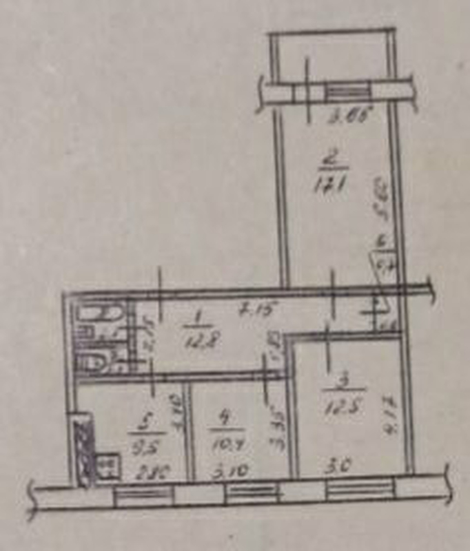 продам 3-комнатную квартиру Днепр, ул.Богомаза , 196 - Фото 12