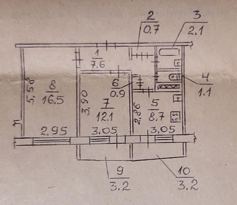 продам 2-комнатную квартиру Днепр, ул.Байкальская , 80 - Фото 9