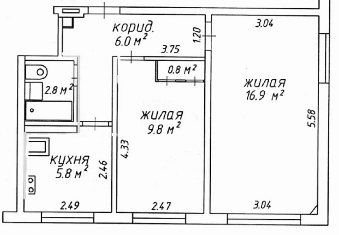 продам 2-комнатную квартиру Днепр, ул.Косиора - Фото 7