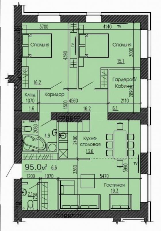 продам 3-комнатную квартиру Днепр, ул.Луговская - Фото 2